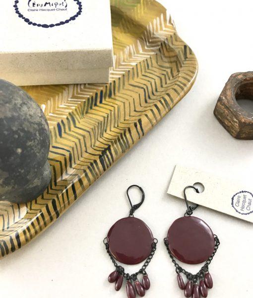 Pastille et minuscules gouttes de céramique faites main par Claire Hecquet-Chaut
