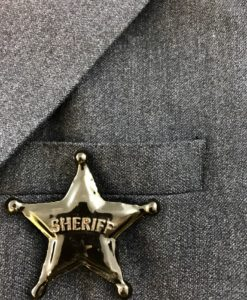 A ceramic Sheriff badge, hand made in France