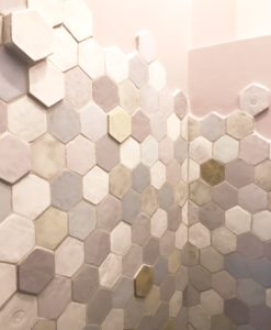 Hexagon tiles hand made in France