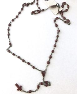 Real Rosary made of micro ceramic beads hand made in France