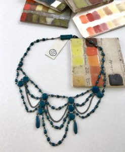 19th century inspired ceramic delicate necklace