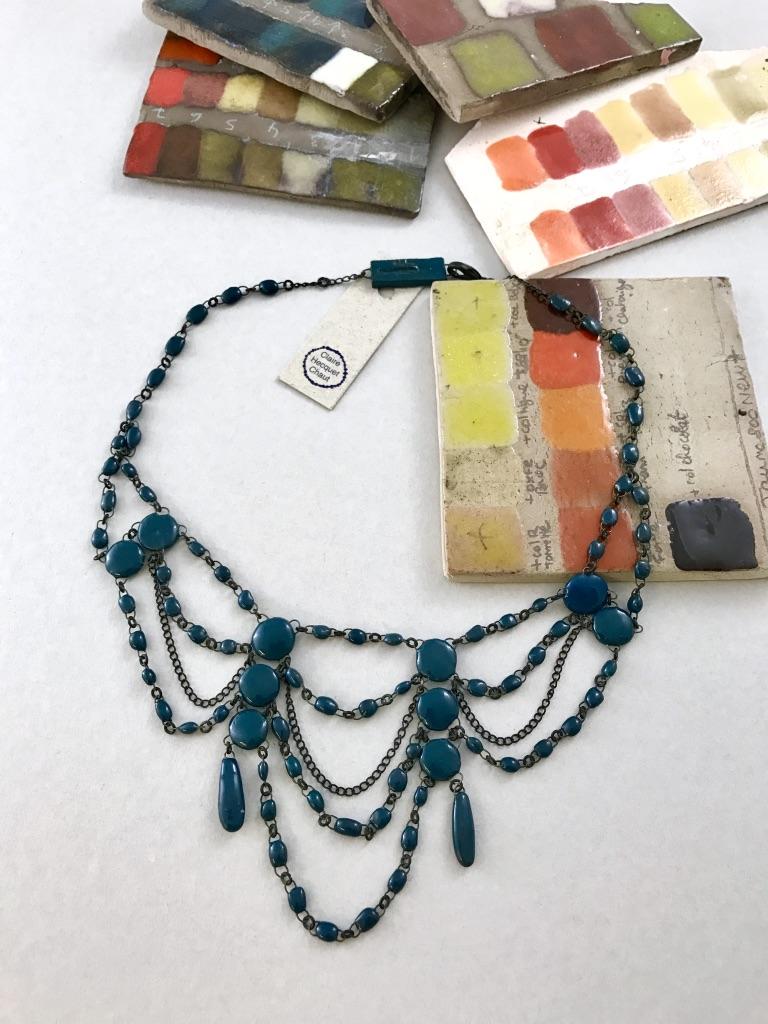 19th century inspired ceramic delicate necklace