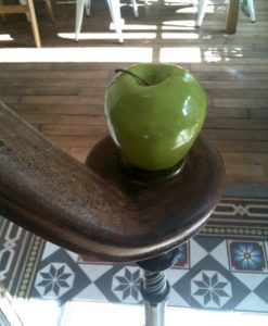 Apple stair ball in handmade in France ceramic