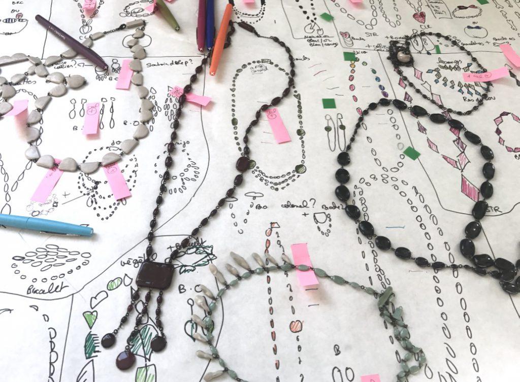 Colliers en céramique par Claire Hecquet Chaut